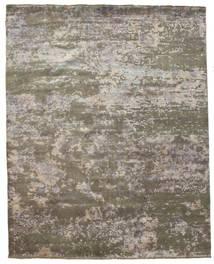 Damask Rug 242X304 Authentic  Modern Handknotted Light Grey/Dark Grey ( India)