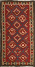 Kilim Maimane Rug 103X196 Authentic  Oriental Handwoven Rust Red/Light Brown (Wool, Afghanistan)
