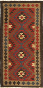 Kilim Maimane Rug 94X190 Authentic  Oriental Handwoven Dark Red/Dark Brown/Light Brown (Wool, Afghanistan)