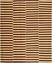 Kilim Modern Rug 222X265 Authentic  Modern Handwoven Dark Brown/Dark Beige (Cotton, Persia/Iran)