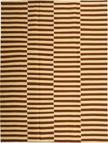 Kilim Modern Rug 230X310 Authentic  Modern Handwoven Dark Brown/Dark Beige (Cotton, Persia/Iran)