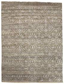 Damask Rug 232X308 Authentic  Modern Handknotted Light Grey/Light Brown ( India)