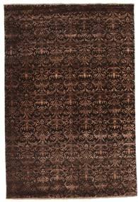 Damask Rug 183X272 Authentic  Modern Handknotted Dark Red/Dark Brown ( India)