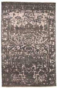 Damask Rug 176X269 Authentic  Modern Handknotted Dark Brown/Light Grey ( India)