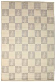 Himalaya Rug 221X330 Authentic  Modern Handknotted Light Grey/Beige ( India)