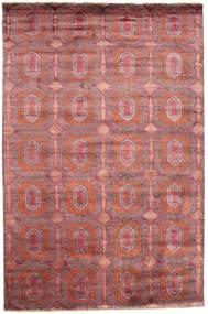 Damask Rug 197X300 Authentic  Modern Handknotted Brown/Dark Beige ( India)