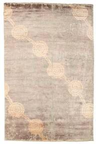 Damask Rug 181X273 Authentic  Modern Handknotted Dark Brown/White/Creme ( India)