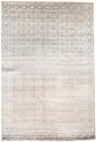 Damask Rug 184X274 Authentic  Modern Handknotted Light Grey/White/Creme ( India)