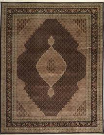 Tabriz Royal Mahi Rug 305X391 Authentic  Oriental Handknotted Dark Brown/Brown Large ( India)