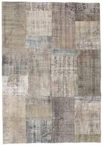 Patchwork Rug 140X201 Authentic  Modern Handknotted Light Grey/Dark Grey (Wool, Turkey)