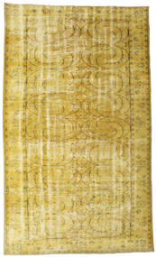 Colored Vintage Rug 170X290 Authentic  Modern Handknotted Yellow/Olive Green/Dark Beige (Wool, Turkey)