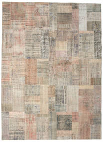 Patchwork Rug 253X350 Authentic  Modern Handknotted Light Grey Large (Wool, Turkey)