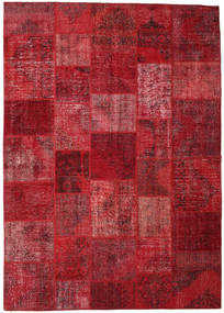 Patchwork Rug 248X351 Authentic  Modern Handknotted Dark Red/Crimson Red (Wool, Turkey)