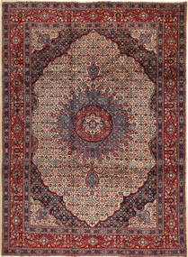 Moud Rug 265X350 Authentic  Oriental Handknotted Dark Red/Brown Large (Wool, Persia/Iran)