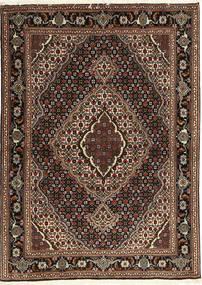 Tabriz 40 Raj Rug 107X149 Authentic  Oriental Handknotted Dark Red/Dark Brown (Wool/Silk, Persia/Iran)