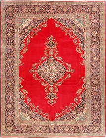 Keshan Rug 293X388 Authentic  Oriental Handknotted Crimson Red/Light Brown Large (Wool, Persia/Iran)