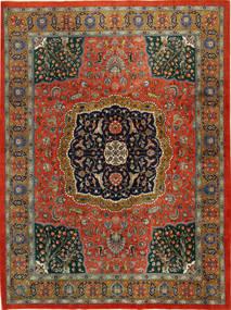 Tabriz Rug 298X389 Authentic  Oriental Handknotted Dark Grey/Rust Red Large (Wool, Persia/Iran)