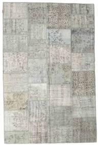 Patchwork Rug 198X300 Authentic  Modern Handknotted Light Grey/Dark Beige (Wool, Turkey)