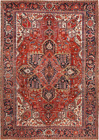 Heriz Rug 288X403 Authentic  Oriental Handknotted Dark Red/Rust Red Large (Wool, Persia/Iran)