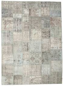 Patchwork Rug 267X370 Authentic  Modern Handknotted Light Grey/Dark Beige Large (Wool, Turkey)