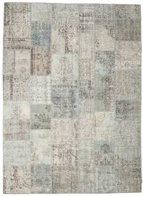 Patchwork Rug 270X370 Authentic  Modern Handknotted Light Grey/Dark Beige Large (Wool, Turkey)