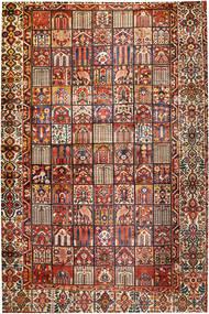 Bakhtiari Rug 374X570 Authentic  Oriental Handknotted Dark Brown/Dark Red Large (Wool, Persia/Iran)