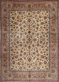 Yazd Signed: Binesh Rug 303X435 Authentic  Oriental Handknotted Light Brown/Dark Red Large (Wool, Persia/Iran)