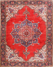 Heriz Rug 300X385 Authentic  Oriental Handknotted Rust Red/Dark Red Large (Wool, Persia/Iran)