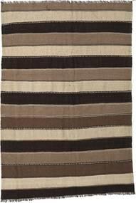 Kilim Rug 170X250 Authentic  Oriental Handwoven Dark Brown/Brown/Light Grey (Wool, Persia/Iran)