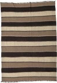 Kilim Rug 175X245 Authentic  Oriental Handwoven Dark Brown/Brown/Light Grey (Wool, Persia/Iran)