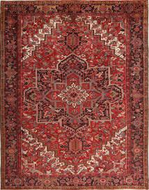 Heriz Rug 293X380 Authentic  Oriental Handknotted Dark Red/Dark Brown Large (Wool, Persia/Iran)