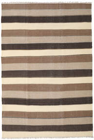 Kilim Rug 201X298 Authentic  Oriental Handwoven Beige/Light Grey/Dark Brown (Wool, Persia/Iran)