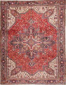 Heriz Rug 293X380 Authentic  Oriental Handknotted Dark Red/Beige Large (Wool, Persia/Iran)