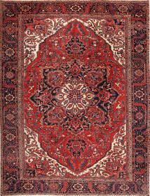 Heriz Rug 292X380 Authentic  Oriental Handknotted Dark Red/Black Large (Wool, Persia/Iran)