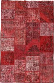 Patchwork Rug 196X301 Authentic  Modern Handknotted Dark Red/Purple (Wool, Turkey)