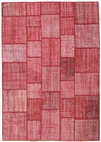 Patchwork Rug 205X295 Authentic  Modern Handknotted Rust Red/Pink (Wool, Turkey)
