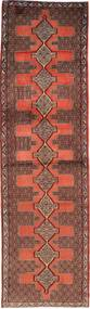 Senneh Rug 87X319 Authentic  Oriental Handknotted Hallway Runner  Dark Red/Light Brown (Wool, Persia/Iran)