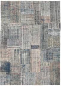 Patchwork Rug 174X243 Authentic  Modern Handknotted Dark Grey/Light Grey (Wool, Turkey)
