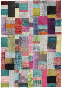 Patchwork Rug 250X353 Authentic  Modern Handknotted Light Grey/Dark Grey Large (Wool, Turkey)