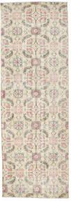 Colored Vintage Rug 91X262 Authentic  Modern Handknotted Hallway Runner  Light Grey/Beige (Wool, Turkey)