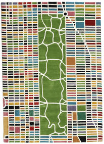 New-York/Manhattan Handtufted - Multi Rug 160X230 Modern Beige/Dark Green (Wool, India)