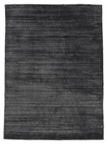 Bamboo Silk Loom - Charcoal Rug 160X230 Modern Purple/Black/Dark Grey ( India)