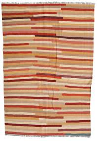 Kilim Rug 137X204 Authentic  Oriental Handwoven Light Brown/Crimson Red (Wool, Persia/Iran)