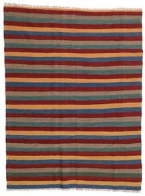 Kilim Rug 169X223 Authentic  Oriental Handwoven Dark Red/Dark Grey (Wool, Persia/Iran)