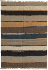 Kilim Rug 142X203 Authentic  Oriental Handwoven Light Grey/Light Brown/Dark Grey/Black (Wool, Persia/Iran)