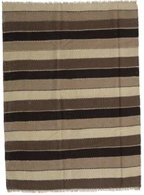 Kilim Rug 186X253 Authentic  Oriental Handwoven Light Brown/Dark Brown (Wool, Persia/Iran)