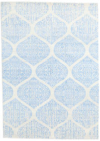 Himalaya Rug 168X238 Authentic  Modern Handknotted Beige/Light Blue/White/Creme (Wool/Bamboo Silk, India)