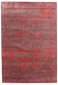 Himalaya Bamboo Silk Rug 202X296 Authentic  Modern Handknotted Brown/Dark Red ( India)