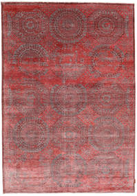 Himalaya Bamboo Silk Rug 208X300 Authentic  Modern Handknotted Dark Red/Brown ( India)