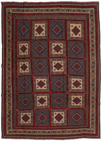 Kilim Golbarjasta Rug 215X288 Authentic  Oriental Handwoven Dark Red/Black (Wool, Afghanistan)